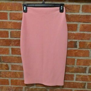 Rainbow Pink Textured Pencil Skirt